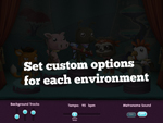 Set custom options for each environment